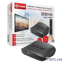 Ресивер DVB-T2 D-Color DC801HD черный