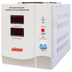 Stabilizer POWERMAN AVS 1000C, step-type regulator, 1000VA / 500W, 150-280V, the maximum input current is 8A, 2 eurosockets, IP-20,  floor standing, 151mm x 126mm x 123mm, 2kg.