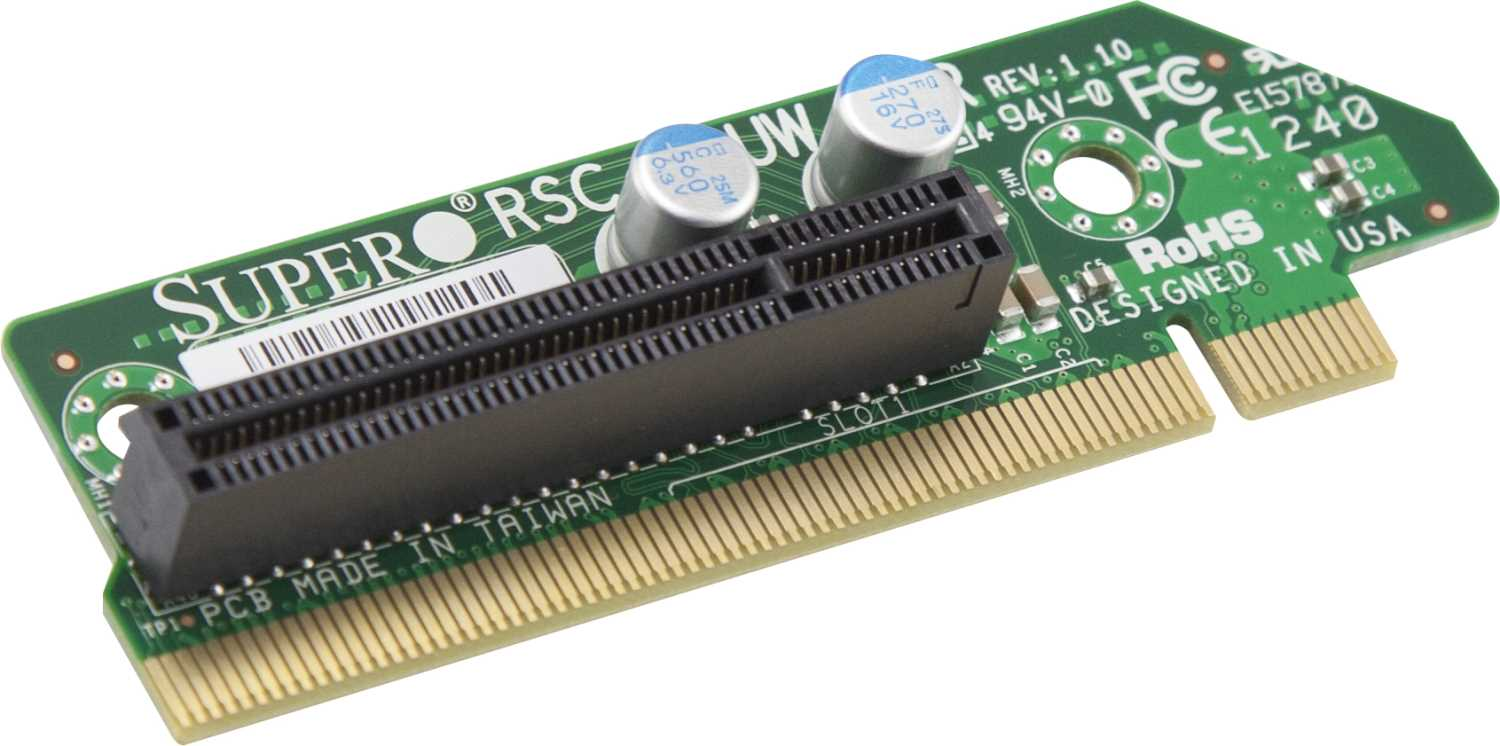 Элемент корпуса Supermicro 1U  RHS  WIO  Riser  card  with  one  PCI-E  x8  slot