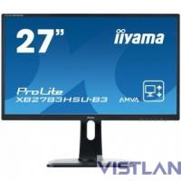 Монитор жидкокристаллический Iiyama Монитор LCD 27'' [16:9] 1920х1080 MVA, nonGLARE, 300cd/m2, H178°/V178°, 3000:1, 12М:1, 16.7M Color, 4ms, VGA, HDMI, DP, USB-Hub, Height adj, Pivot, Tilt, HAS, Speakers, Swivel, 3Y, Black