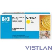 HP Q7562A Картридж ,Yellow{Color LaserJet 3000, Yellow, (3500стр.)}