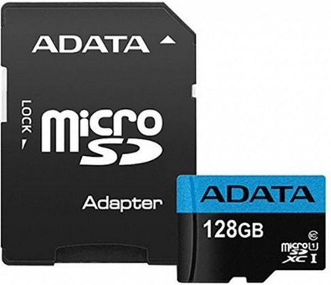 ADATA 128GB microSDXC UHS-I class10 with SD adapter