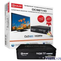 Ресивер DVB-T2 D-Color DC921HD черный