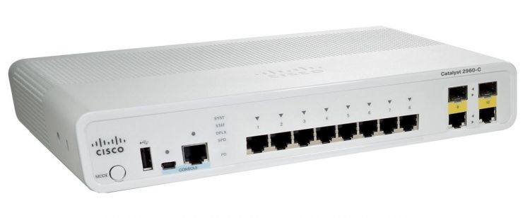 Catalyst 2960C Switch 8 FE, 2 x Dual Uplink, Lan Base