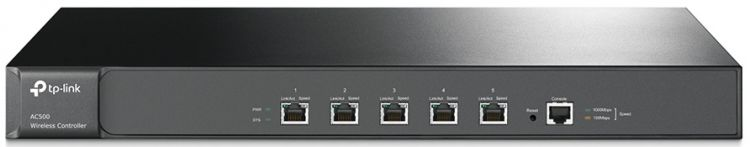 AC500 Wireless Controller, Manage up to 500 CAPs, Gigabit Ethernet Port*5,Console Port*1, 1U 19-inch rack-mountable steel case