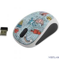 910-005055 Logitech M238 Wireless Mouse Doodle Collection Bae-Bee Blue