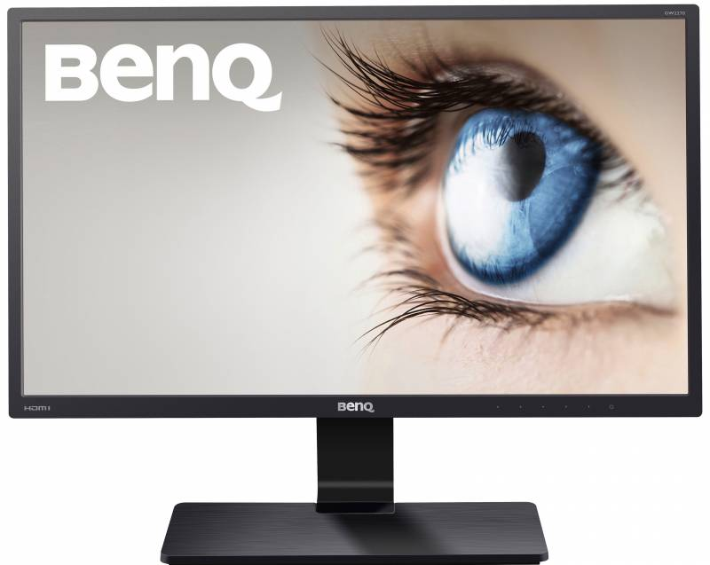 "BenQ GW2270 21.5"" WLED monitor, VA, Full HD 1920x1080, 5ms(GtG), 250 cd/m2, 20 M:1(3000:1), 178°(H), 178°(V), D-Sub, DVI, VESA 100x100 mm, Senseye3, TCO 6.0, Flicker-free, Low blue light, Glossy Black"