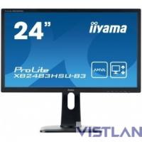 "Монитор Iiyama 24"" ProLite XB2483HSU-B3 черный VA LED 4ms 16:9 HDMI M/M матовая HAS Pivot 3000:1 250cd 178гр/178гр 1920x1080 D-Sub DisplayPort FHD USB 5.6кг"