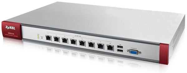 ZYXEL  USG310 UTM BDL Firewall Appliance 10/100/1000, 8x configurable  UTM Bundle (AS,AV,CF,IDP) 1 YR