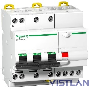 Schneider-electric A9D56706 ДИФФ.АВТ. DPN N VIGI 4П 6КА 6A B 30MA A