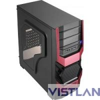 "Miditower Aerocool ""Cyclops Advance Red/Black "", mATX, черный без БП [EN55170]"