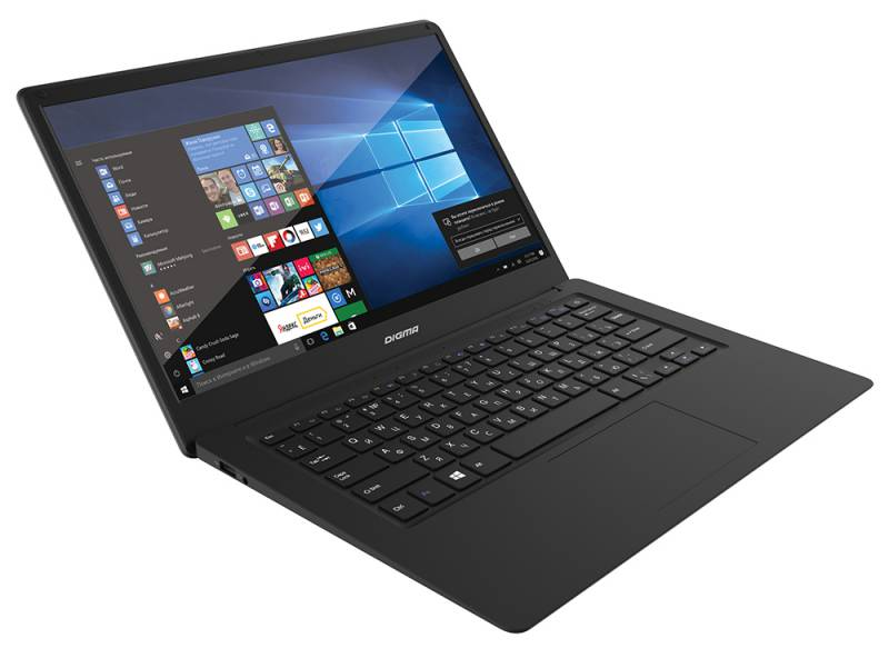 "Ноутбук Digma CITI E401 Atom X5 Z8350/4Gb/SSD32Gb/Intel HD Graphics 400/14.1""/IPS/FHD (1920x1080)/Windows 10 Home 64/black/silver/WiFi/BT/Cam/9000mAh"