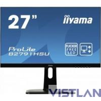 Монитор жидкокристаллический Iiyama Монитор LCD 27'' [16:9] 1920х1080 TN, nonGLARE, 300cd/m2, H170°/V160°, 1000:1, 12М:1, 1ms, VGA, HDMI, DP, USB-Hub, Height adj, Pivot, Tilt, HAS, Speakers, Swivel, 3Y, Black