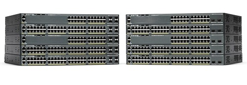 Коммутатор Cisco Catalyst 2960-X 24 GigE PoE 370W, 2 x 10G SFP+, LAN Base
