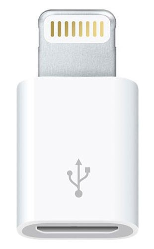 Адаптер Apple MD820ZM/A micro USB B (m) Lightning (m) белый