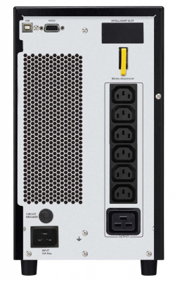 Easy UPS SRV 3000VA, On-Line, 2.4 kWatt, 3.0 kVA, (6) IEC 320 C13, (1) IEC 320 C19, black, DB-9 RS-232, SmartSlot™, 336x190x425 mm, 27kg