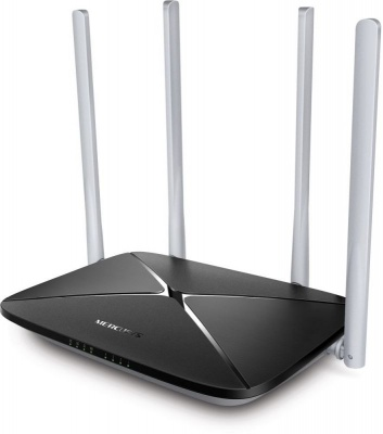 AC1200 dual Band Wi-Fi router, up to 867 Mbps at 5 GHz + up to 300 Mbps at 2.4 GHz, 1 WAN port 10/100 Mbps + 4 LAN ports 10/100 Mbps, 4 fixed antennas