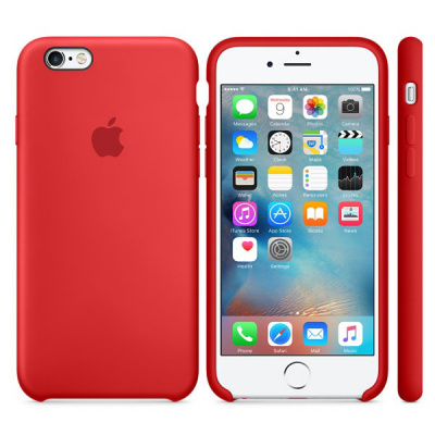 iPhone 6/6s Silicone Case - RED