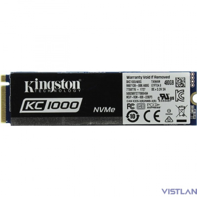 Kingston SSD 480GB M.2 KC1000 Series SKC1000/480G