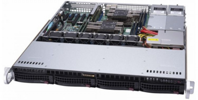 "Корпус компьютерный Supermicro Barebone 1U/Dual socket P UPI up to 10.4GT/s/Up to 1TB/1 PCI-E 3.0 x8/4 Hot-swap 3.5""/2 GbE LAN/1 VGA, 2 USB 2.0/2 SuperDOM/1 PCIe/SATA M.2/600W Redundant"